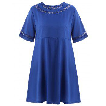 Lace Trim Plus Size Shift Dress