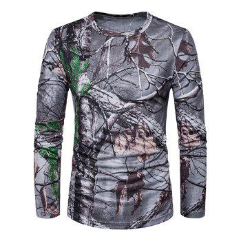 Long Sleeve 3D Dead Wood Trippy T-Shirt