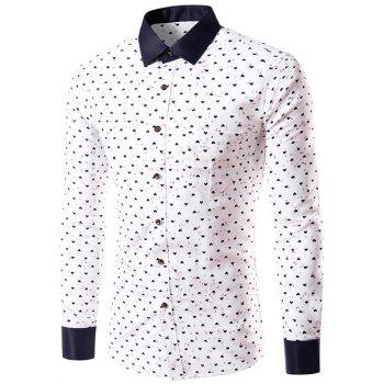 Long Sleeve Graphic Heart Print Shirt
