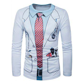 3D Doctor Costume Print T-Shirt