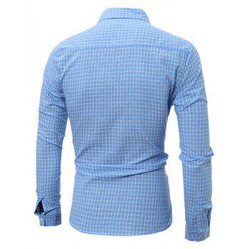 Long Sleeve Pocket Gingham Shirt - 3XL 3XL