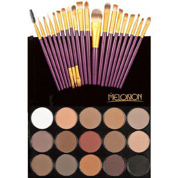 Eyeshadow Palette with Makeup Brushes Set