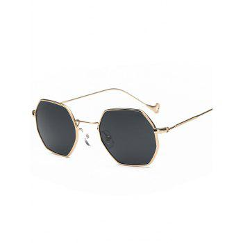 Polygon Mirrored Hollow Out Leg Sunglasses