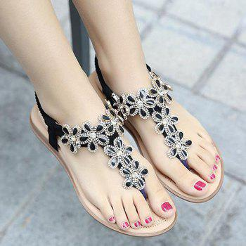 Elastic Band Rhinestones Sandals