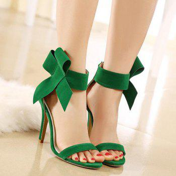 Zipper Bowknot Stiletto Heel Sandals