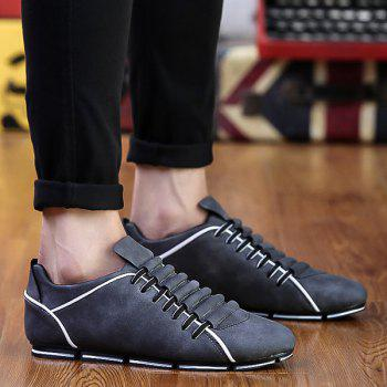 Tie Up Colour Block Casual Shoes