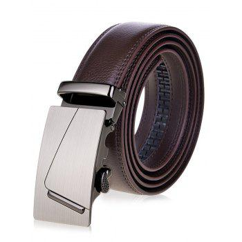 Wide Waist Belt with Rectangle Automatic Buckle