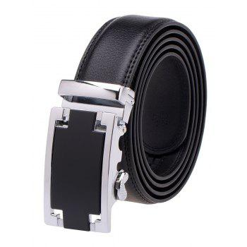 Faux Leather Automatic Buckle Plain Belt