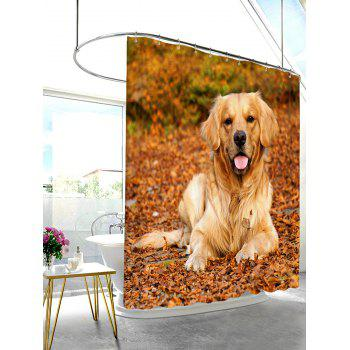 Waterproof Mouldproof Pet Dog Pattern Shower Curtain - COLORMIX 180*180CM