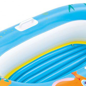 Crab Printed Kids Inflatable Floating Boat - LIGHT BLUE