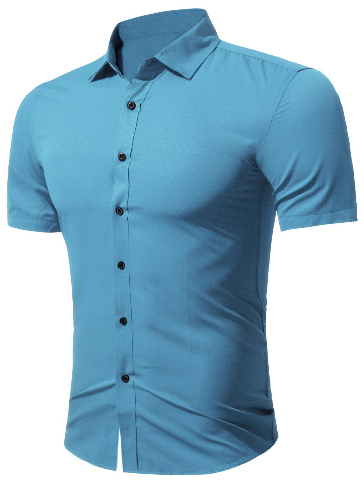 Image of Short Sleeve Business Shirt in Slim Fit