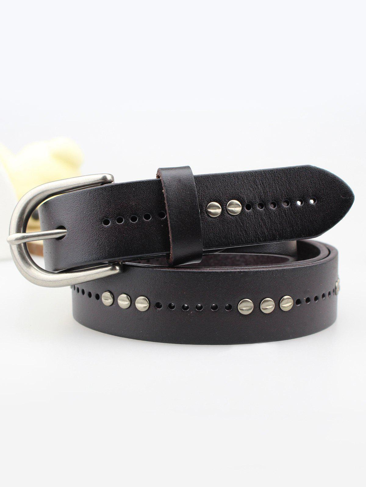 Rivet Insertion ardillon Ceinture en cuir - Tan