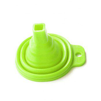 Silicone Scalable Folding Long Neck Funnel -  GREEN