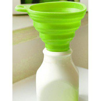 Silicone Scalable Folding Long Neck Funnel - GREEN GREEN