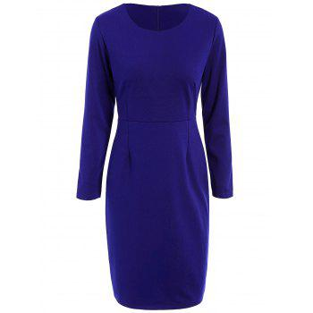High Waist Long Sleeve Dress