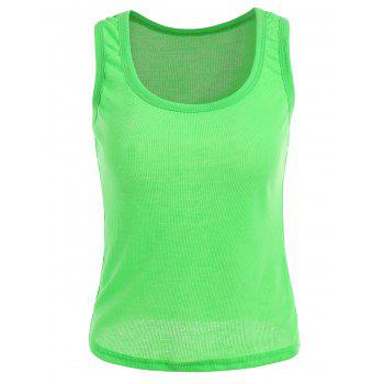 Stretch Basic Ribbed Tank Top