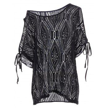 Cold Shoulder Batwing Beach Tunic Cover Up