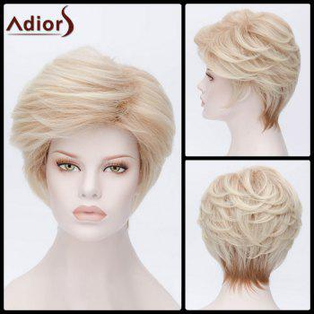 Adiors Hair Short Side Parting Layered Cut Synthetic Wig