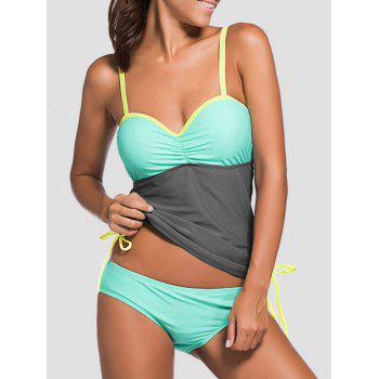 Underwire Padded Color Block Tankini