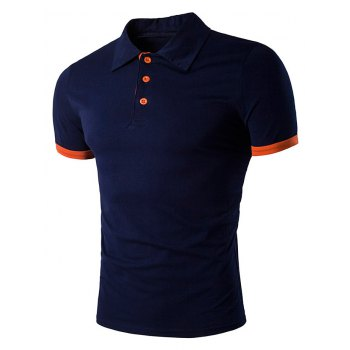 Short Sleeve Panel Design Polo T-Shirt