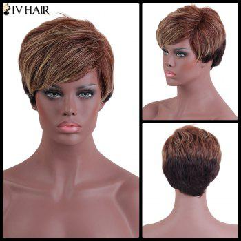 Siv Hair Short Side Bang Color Mix Straight Human Hair Wig