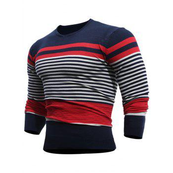 V Neck Stripe Pullover Jumper