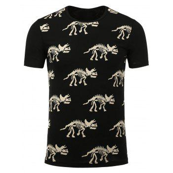 Dinosaur Skeleton Pattern Tee