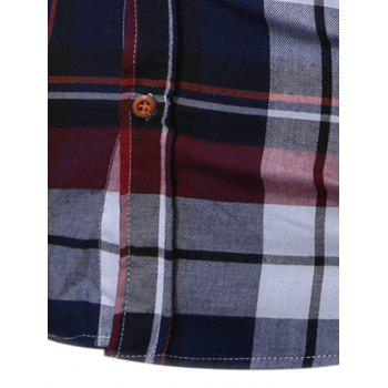 Long Sleeve Buttoned Bold Plaid Shirt - M M