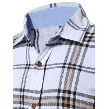 Long Sleeve Buttoned Multi Check Shirt - XL XL