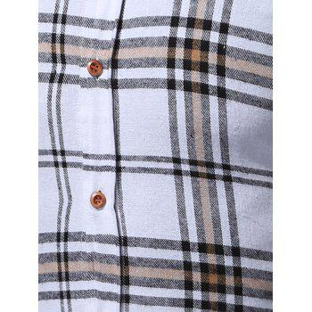 Long Sleeve Buttoned Multi Check Shirt - CHECKED CHECKED