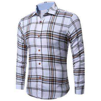 Long Sleeve Buttoned Multi Check Shirt - CHECKED XL