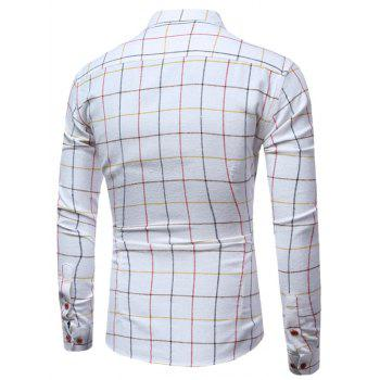 Windowpane Check Long Sleeve Shirt - 3XL 3XL
