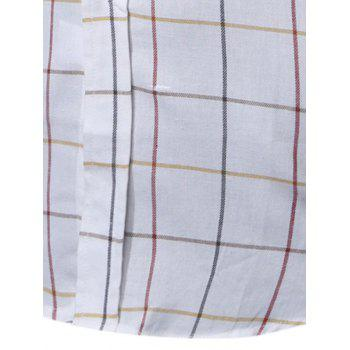 Windowpane Check Long Sleeve Shirt - 2XL 2XL