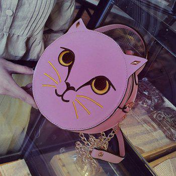 Cat Head Shaped Funny Crossbody Bag