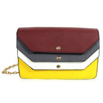 Layered Color Blocking Cross Body Bag