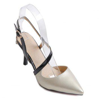 Color Block Slingback Pumps