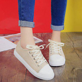 Tie Up Suede Athletic Shoes