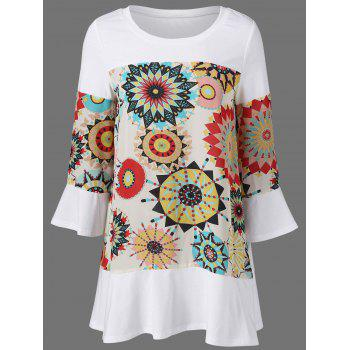 Flare Sleeve Graphic Longline T-Shirt