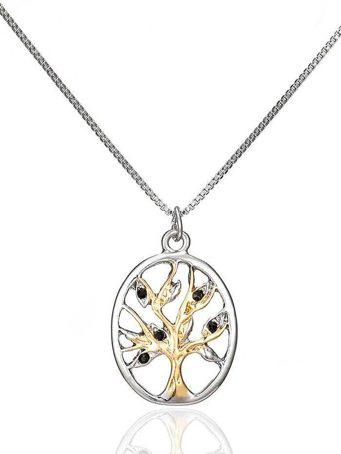 Alloy Life Tree Pendant Necklace - SILVER