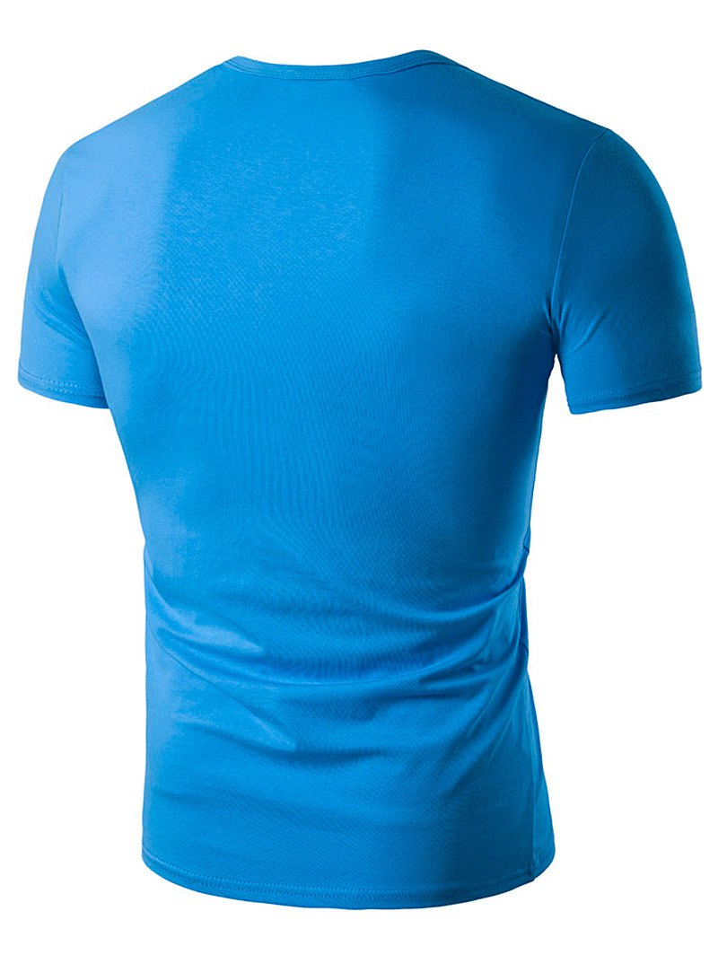 2018 eyelet 3d graphic print t shirt lake blue m in t for T shirt graphics for sale