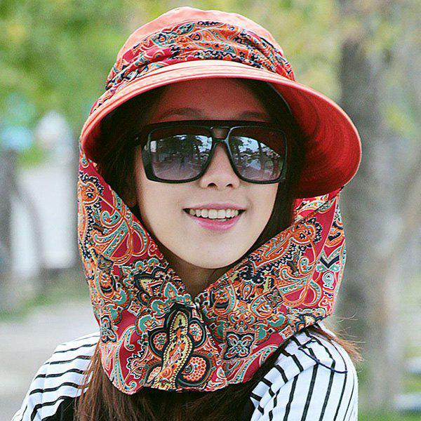 Paisley Print  UV Protection Folding Bucket Hat - LAKE