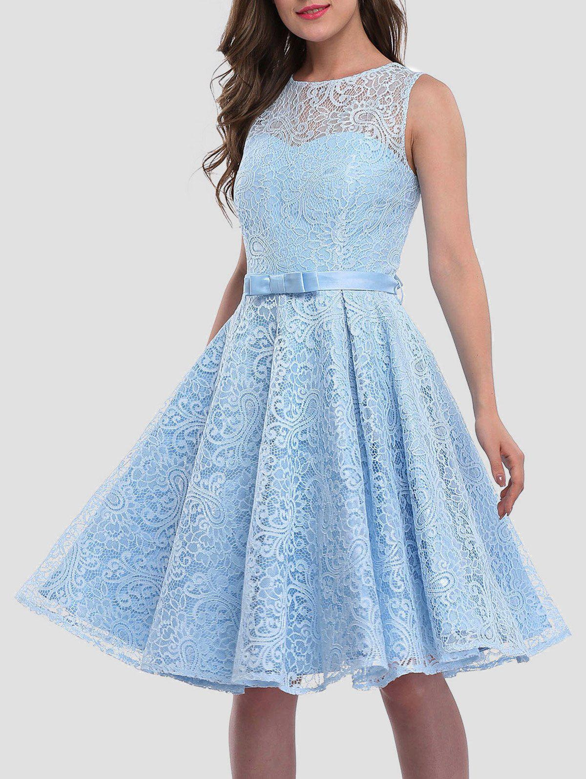 2018 Lace Skater Cocktail Homecoming Formal Dress ICE BLUE XL In ...