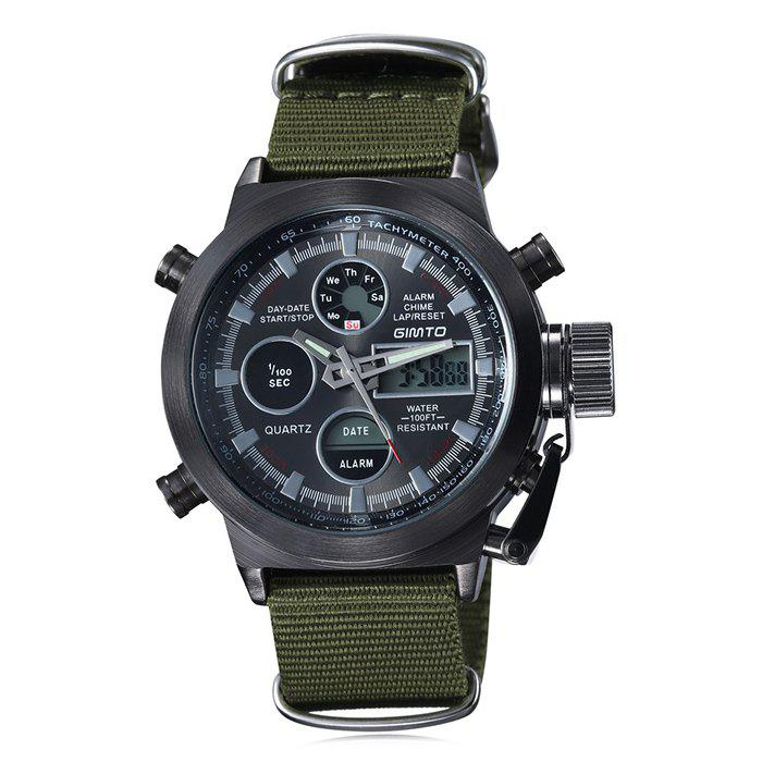 GIMTO Outdoor Waterproof Analog Digital Watch - BLACK