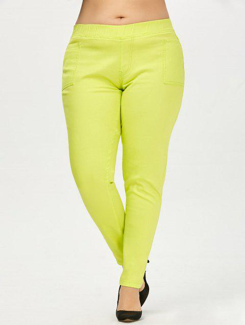 2018 Colored Plus Size Pants Neon Green Xl In Pants Online Store