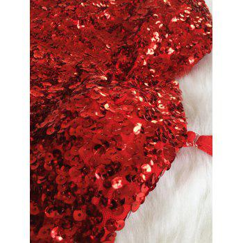 Mini Bodycon Slip Sequins Dress - RED RED
