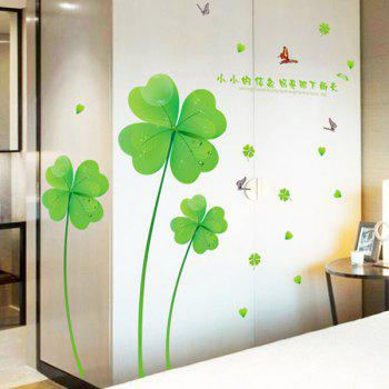 Four Leaf Clover Removable Wall Sticker