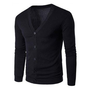 Cotton Blends Single Breasted Cardigan