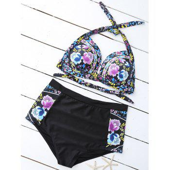 Floral High Waist Plus Size Bathing Suits