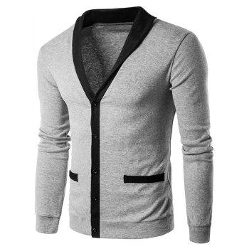 Single Breasted Knit Blends Cardigan