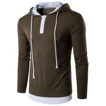 Hooded Faux Twinset Panel T-Shirt